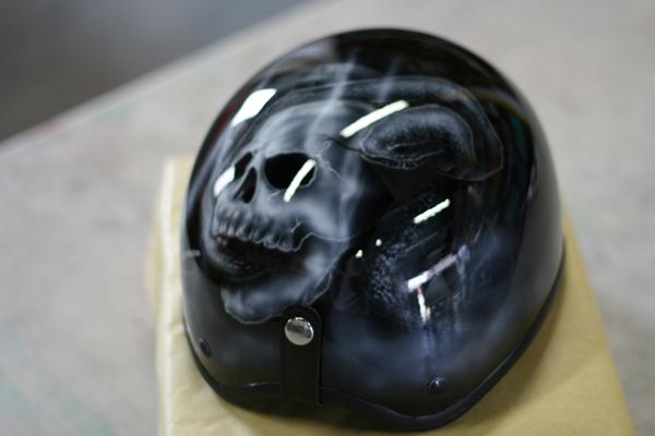 ハーフヘルメット カスタムペイント