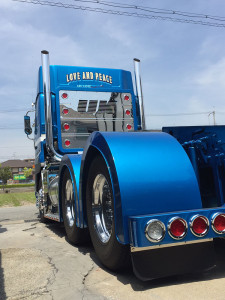 トレーラーヘッド トラック サインペイント 手描き