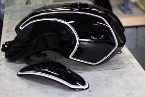 BMW バイク ピンストライプ ペイント